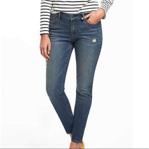 Old Navy Curvy Profile Distressed Skinny Jeans